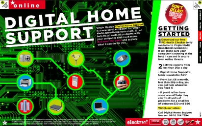 Electric digital-home-support